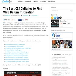 The Best CSS Galleries to Find Web Design Inspiration
