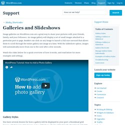 Galleries and Slideshows