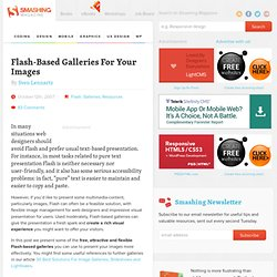 Flash-Based Galleries For Your Images - Smashing Magazine