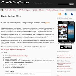 Best Photo Galleries for WordPress - Photo, Video, MP3 and jQuery Gallery for WordPress
