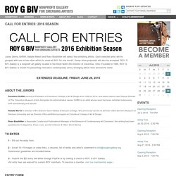 Call for Entries: 2016 Season