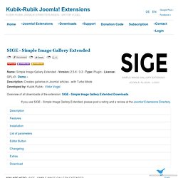 SIGE - Simple Image Gallery Extended