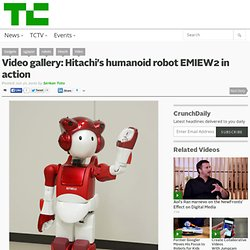 Hitachi's humanoid robot EMIEW2 in action