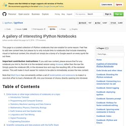 A gallery of interesting IPython Notebooks · ipython/ipython Wiki