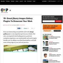 15 Great jQuery Images Gallery Plugins To Showcase Your Work