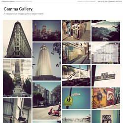 Gamma Gallery - A Responsive Image Gallery Experiment