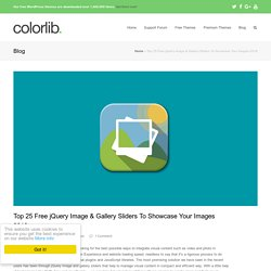Top 25 Free jQuery Image & Gallery Sliders To Showcase Your Images 2016