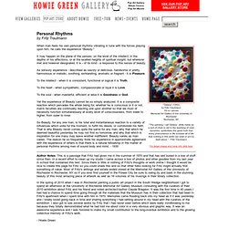 Howie Green Gallery: Fritz Trautmann - Personal Rhythms