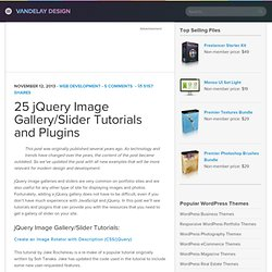 25 jQuery Slider/Image Gallery Tutorials and Plugins