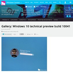 Gallery: Windows 10 technical preview build 10041