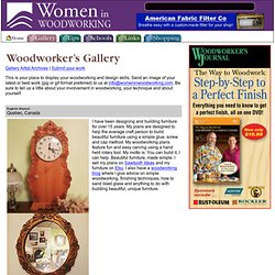 Gallery | Women In Woodworking