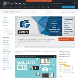 Gallery — WordPress Plugins