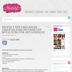 Receta y tips para hacer galletas para decorar con royal icing por Any Gonzalez