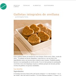 Galletas integrales de avellana - Receta
