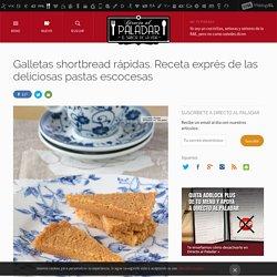Galletas shortbread. Receta de postre fácil y sencilla