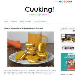 Recetas de cocina: Galletas de zanahoria rellenas de crema de queso