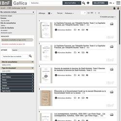 Gallica Recherche - 159 résultats sur Gallica