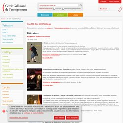 Cercle Gallimard de l'enseignement/Du côté des CDI/Collège