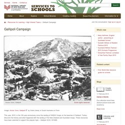 National Library resources: Gallipoli Campaign