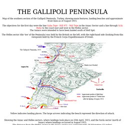 Gallipoli Peninsula Relief Map