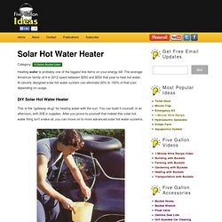 5 Gallon Bucket Solar Hot Water Heater