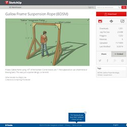 Gallow Frame Suspension Rope (BDSM) by D3icidal