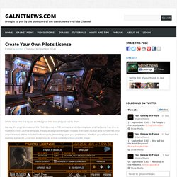 Create Your Own Pilot's License - GalnetNews.comGalnetNews.com
