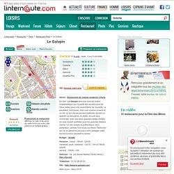 Le Galopin, restaurant de cuisine moderne à Paris, avec L'Internaute