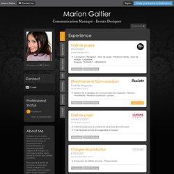 Marion Galtier - CV - Chargée de Communication