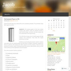Galvanised Steel Pipes in UK from Jacob