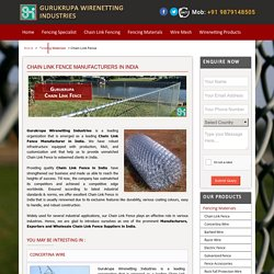 Chain Link Fencing Suppliers in India
