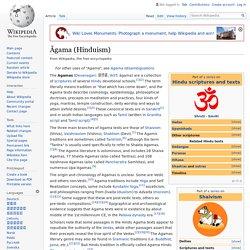 Āgama (Hinduism) - Wikipedia