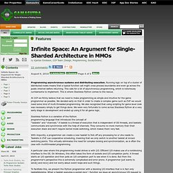 Infinite Space: An Argument for Single-Sharded Architecture in MMOs