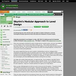 Joel Burgess's Blog - Skyrim's Modular Approach to Level Design
