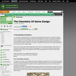 Features - The Chemistry Of Game Design
