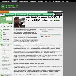 World of Darkness is CCP's bid for the MMO mainstream