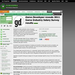 Game Developer reveals 2011 Game Industry Salary Survey results