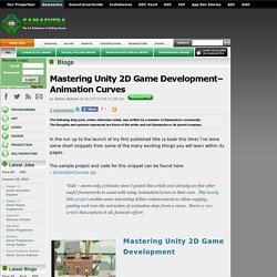 Simon Jackson's Blog - Mastering Unity 2D Game DevelopmentAnimation Curves
