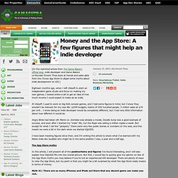 Money and the App Store: A few figures that might help an indie developer