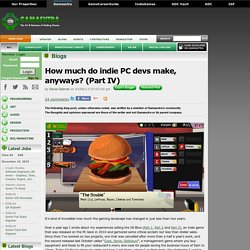 David Galindo's Blog - How much do indie PC devs make, anyways? (Part IV)