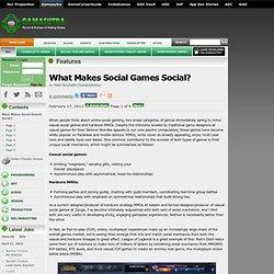 What Makes Social Games Social?