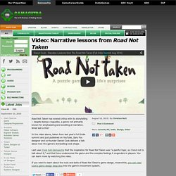Video: Narrative lessons from Road Not Taken