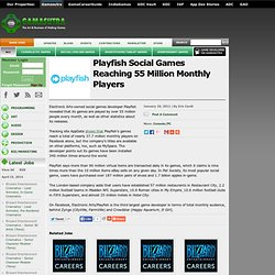 Playfish Social Games Reaching 55 Million Monthly Players