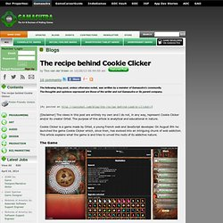 Tino van der Kraan's Blog - The recipe behind Cookie Clicker