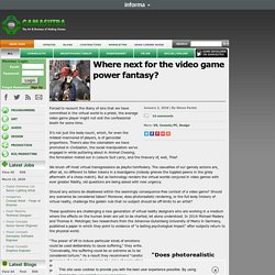 - Where next for the video game power fantasy?