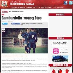 Gambardella : vous y êtes