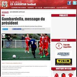 Gambardella, message du président