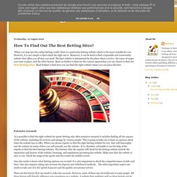 Gambling Affiliate : How To Find Out The Best Betting Sites?