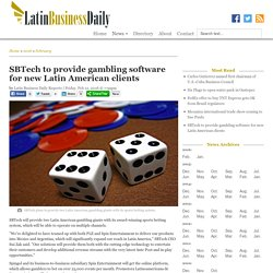 SBTech to provide gambling software for new Latin American clients