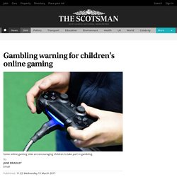 Gambling warning for children's online gaming